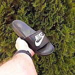 Жіночі літні шльопанці Nike (чорно-білі) 50001, фото 7