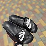 Жіночі літні шльопанці Nike (чорно-білі) 50001, фото 9