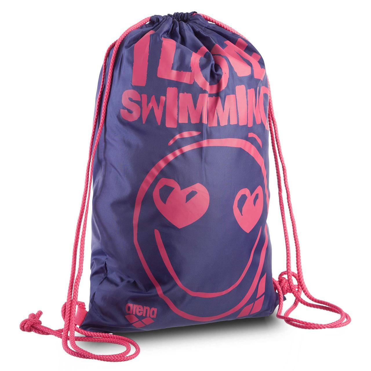 Купить Рюкзак-мешок ARENA AR-93586-15 SLOGAN SWIMBAG LOVE (полиэстер, р-р 45х35см, фиолетовый-красный)