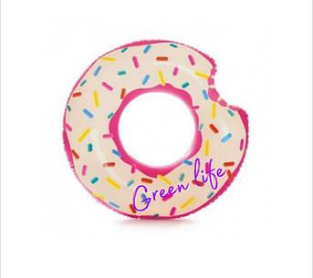 """Надувной круг """"Надкусанный пончик"""" Intex"""