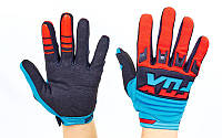 Перчатки для мотокросса FOX BC-4827 размер M-XL цвета в ассортименте Красный-синий L