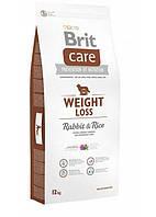 Сухий корм Brit Care (Брит Кеа) Weight Loss Rabbit & Rice для собак з надмірною вагою (кролик і рис) 12 кг