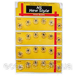 Пришивные застежки-кнопки для одежды New Style D=11,5мм 24шт стеклянные (653-Т-0279)
