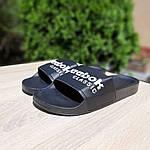 Женские летние шлепанцы Reebok (черно-белые) 50002, фото 6