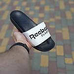 Мужские летние шлепанцы Reebok (черно-белые) 40014, фото 2