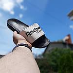 Мужские летние шлепанцы Reebok (черно-белые) 40014, фото 3
