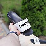 Чоловічі літні шльопанці Reebok (чорно-білі) 40014, фото 4