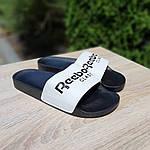 Мужские летние шлепанцы Reebok (черно-белые) 40014, фото 7
