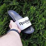 Мужские летние шлепанцы Reebok (черно-белые) 40014, фото 8