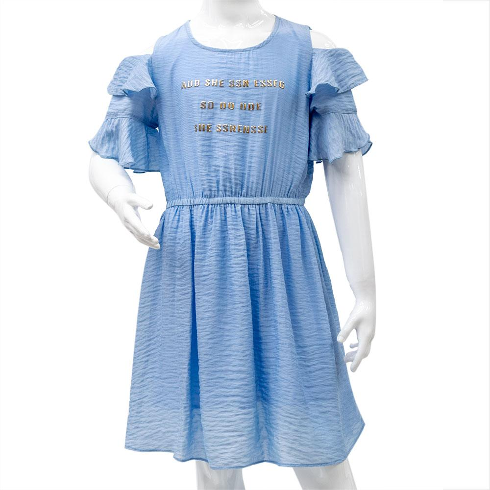 Платье для девочек Mimcar 120  голубое 901156
