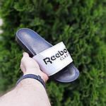 Женские летние шлепанцы Reebok (черно-белые) 50003, фото 4