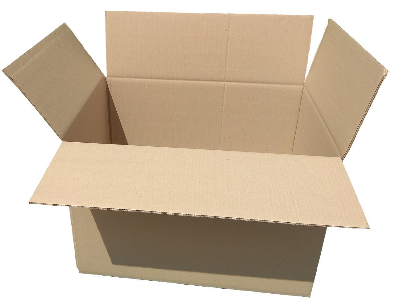 Картонная коробка вместимостью до 15 кг фактического или объемного веса 600*350*285