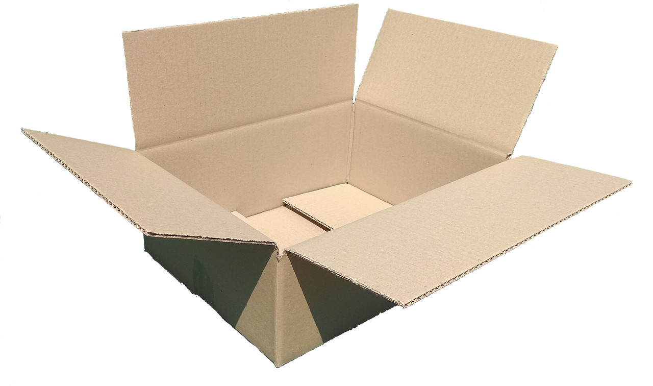 Гофроящики 340х240х100, бурый. Картонные коробки Новая почта 2 кг