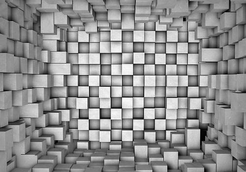 Фотообои 3D фигуры (бумага 368х254) Область в квадратах (2505.21021)
