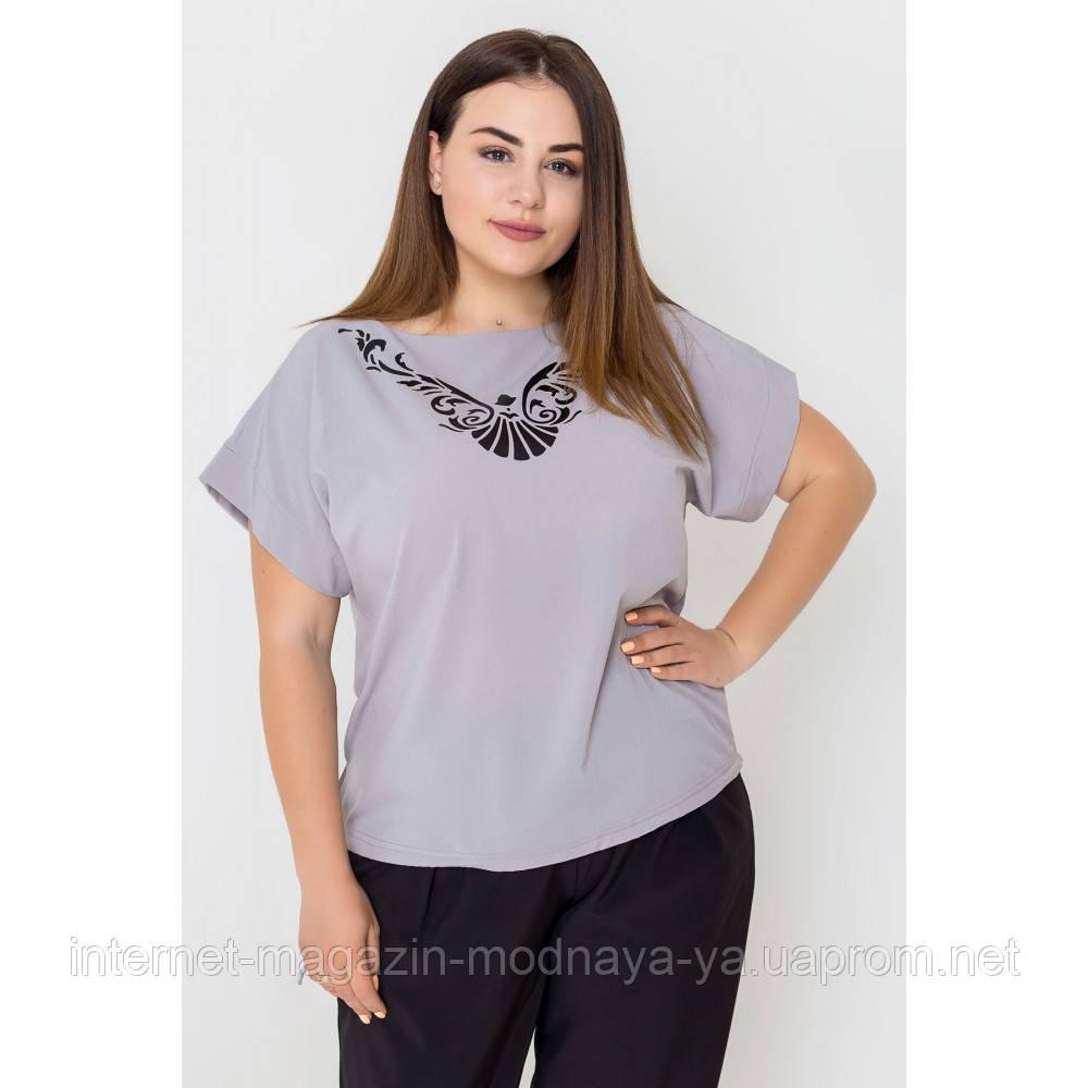 Блуза летняя большого размера Темила р. 54-62