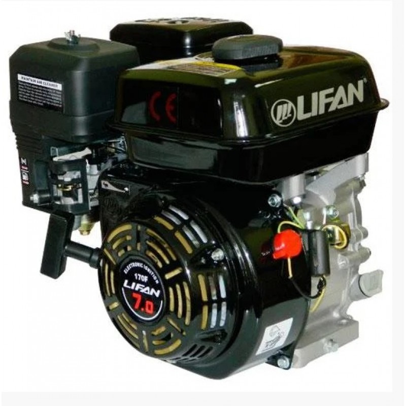 Двигун (бензин-газ) LIFAN LF170F (7 к. с.) шпонка 20 мм