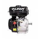 Двигун (бензин-газ) LIFAN LF170F (7 к. с.) шпонка 20 мм, фото 7