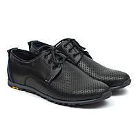 Летние кроссовки кожаные в сеточку черные мужская обувь больших размеров Rosso Avangard BS AN Black, фото 1
