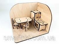 Лялькова кімната Кухня. Дерев'яний 3Д конструктор, фото 5