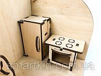 Лялькова кімната Кухня. Дерев'яний 3Д конструктор, фото 6