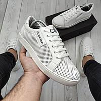 Armani мужские кожаные кеды (туфли)мужская обувь полностью из натуральной кожи (шкіряні кеди армані)