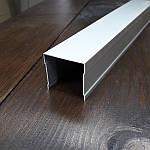 Рельса для шкафа купе одинарная, комплект, серебро