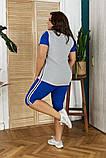 Летний женский костюм:футболка и бриджи,размеры:48-50,52-54,56-58., фото 9