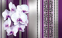 Фотообои 3D цветы 368х254 см : Орхидеи на обоях (1282CN)