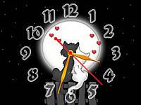 Часы настенные Кошачья любовь 30х40 см