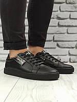 Calvin Klein мужские кожаные кеды (туфли)мужская обувь полностью из натуральной кожи (шкіряні кеди армані)
