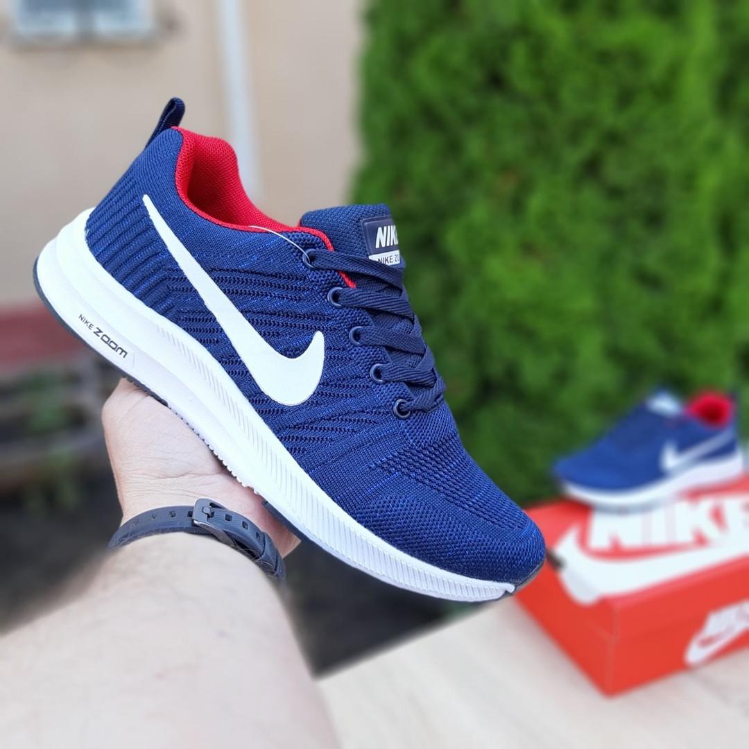 Чоловічі кросівки Nike ZOOM (синьо-червоні) 10178