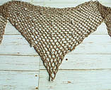 Пляжная коричневая накидка с ракушками - размер универсальный (160*60см), 100% акрил, фото 6