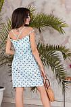 Платье летнее короткое с переплетом на спине из бретелей, 4 цвета, р.42-44,46-48, код 237Э, фото 3
