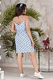 Платье летнее короткое с переплетом на спине из бретелей, 4 цвета, р.42-44,46-48, код 237Э, фото 8