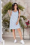 Платье летнее короткое с переплетом на спине из бретелей, 4 цвета, р.42-44,46-48, код 237Э, фото 6