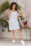 Платье летнее короткое с переплетом на спине из бретелей, 4 цвета, р.42-44,46-48, код 237Э, фото 9