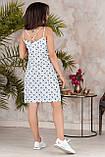 Платье летнее короткое с переплетом на спине из бретелей, 4 цвета, р.42-44,46-48, код 237Э, фото 10