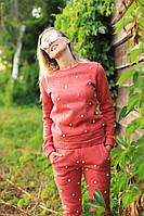 Женский костюм кораловый