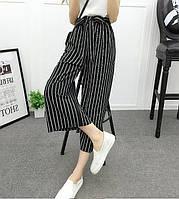 Женские кюлоты широкие штаны в полосу полоску