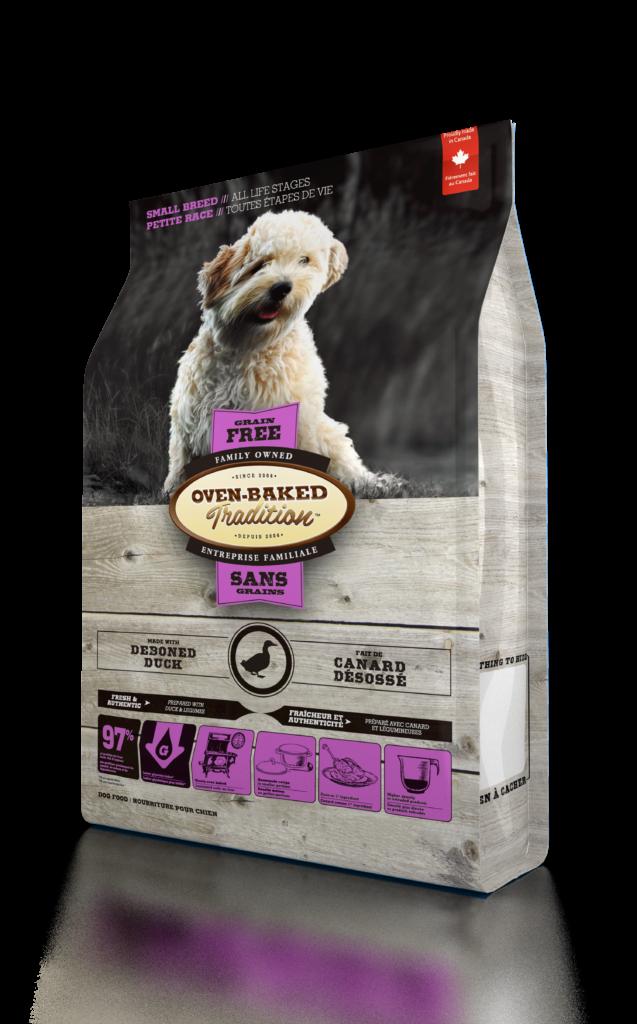 Корм для собак Oven-Baked БЕЗЗЕРНОВОЙ малых пород со свежего мяса утки 1 КГ