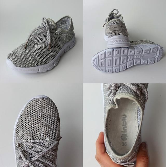 Легкі сірі кросівки , фото