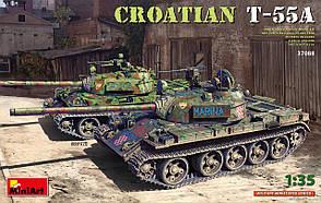 Хорватский Т-55А. Сборная модель танка в масштабе 1/35. MINIART 37088