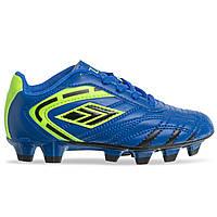 Бутсы футбольная обувь детская 1817B размер 31-36 (верх-PU, подошва-RB, цвета в ассортименте) Синий-зеленый 31