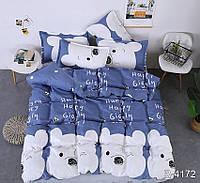 ✅  Полуторный комплект постельного белья (Ранфорс) Украина