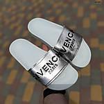 Женские летние шлепанцы Givenchy (бело-серебристые) 50008, фото 6