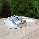 Женские летние шлепанцы Givenchy (бело-серебристые) 50008, фото 3