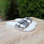 Женские летние шлепанцы Givenchy (бело-серебристые) 50008, фото 4