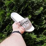 Женские летние шлепанцы Givenchy (бело-серебристые) 50008, фото 5