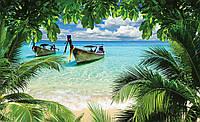 Фотообои 3D природа (флизелин, бумага) 368х254 см : Море сквозь джунгли  (225P8CN)