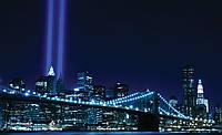 Фотообои город 368х254 см : Бруклинский мост в синих цветах (134P8CN)
